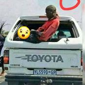 Look What This Man Was Seen Doing At The Back Of The Bakkie