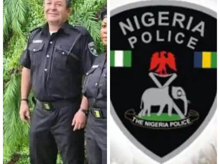 Do You Still Think the Nigerian Police is Bad? See Pictures of a White Nigerian Police Officer