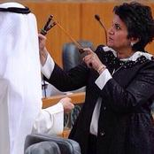Funny Reactions As Lawmaker Goes To Session With A Catapult In Kuwait.