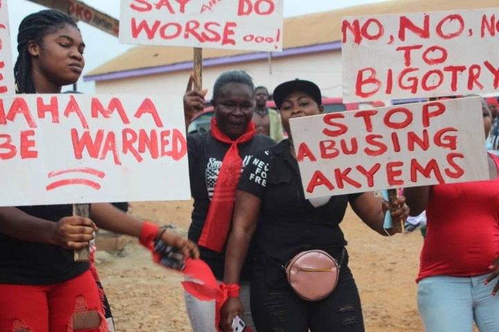 """525cc57f07b21df61cc954f4591137f0?quality=uhq&resize=720 - """"We Can Say & Do Worse oo"""" - Demonstration Against Mahama for His 'Akyem Sakawa Boys' Comment Is Ongoing (Photos)"""