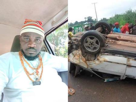Igbo Man Celebrates as God saved him from a ghastly accident