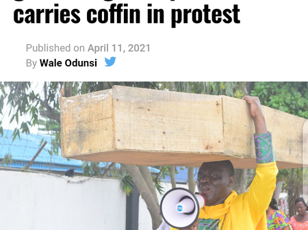 """Today's Headlines: Nigerian Pastor Carries Coffin In Protest - Says God Not Happy With Buhari, Fani-Kayode backs Yahaya Bello for president after calling him """"useful idiot"""", """"accursed slave"""""""