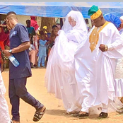 PHOTOS: Check Out The Beautiful Wedding Gown A Muslim Bride Wore Today For Her Wedding
