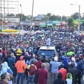 Ruto's Supporters Do This To The Police Ahead Of His Visit To Nandi Region