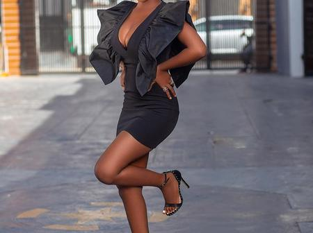 5 Times Bbnaija Star, Diane Russet Looked Stylish and Beautiful in Black
