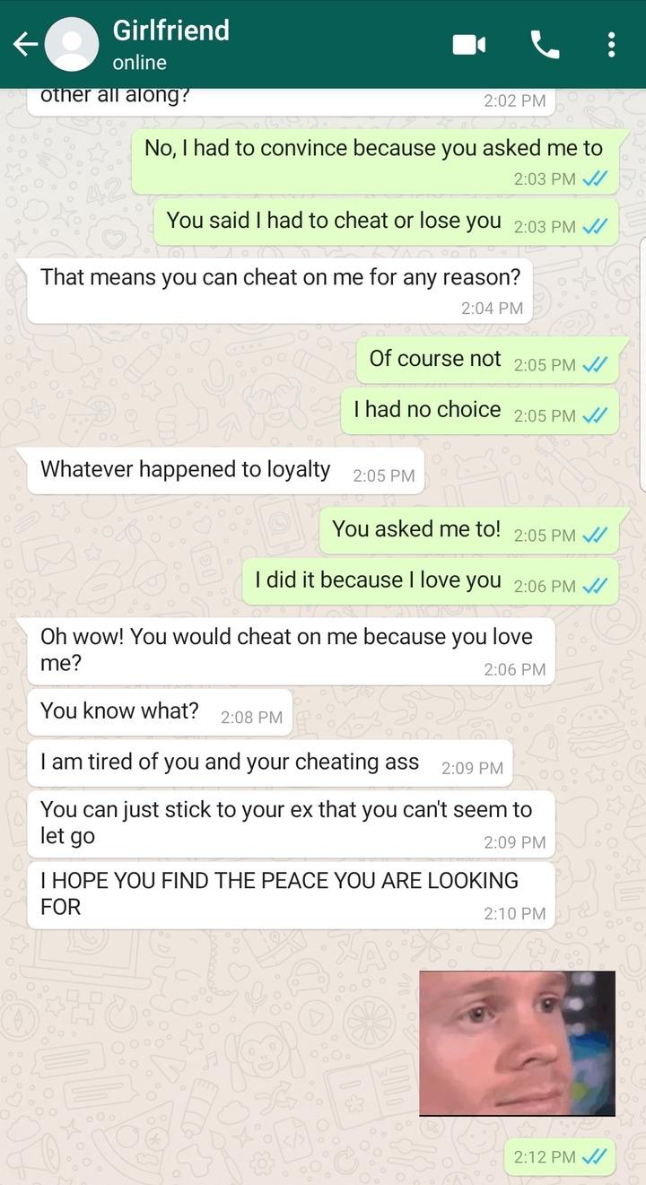 """Cheat On Me Or We Breakup"" - Lady Tells Boyfriend (Screenshots Of Chats) 7"