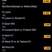 Stake On These Sure Multi bets With GG, Over 2.5 Goals To Earn You Massively Tonight