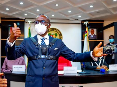 Kudos To Gov. Sanwo-Olu as He Unveils Body Cameras for Security Operatives(Photos)