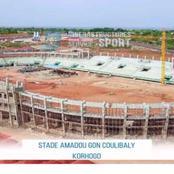 CAN 2023 : voici l'état d'avancement des travaux du stade Amadou Gon Coulibaly de Korhogo
