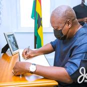He Lived a Fulfilling Life - Mahama Mourns As He Signs Prince Philip's Book Of Condolence in Accra