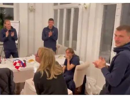 Luka Modric in tears after his teammates did this to him for breaking this Croatia Record vs Cyprus.