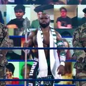 Nigerian WWE Wrestler, Apollo Crews Showed Up On Friday Night Smackdown With 2 Nigerian Elite Guard