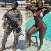 Check Out 10 Photos of Female Soldiers in their Non-Military Outfits.