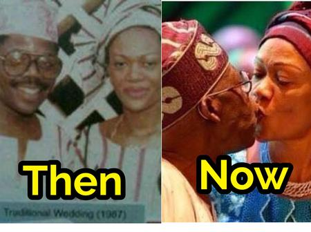 Tinubu Is A Year Today, Check Photos His Family And His Beautiful Wife Who Is An Ordained Pastor