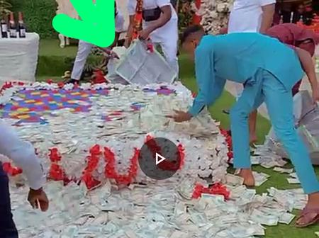 Check Out This Video Of People Picking Up Cool Cash Sprayed At A Wedding Party In Anambra Today