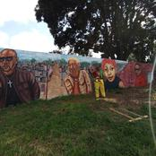 According To Rasta This Is Mandoza, Brenda Fassie, Lebo And Jabba, A Wall Of Legendaries.