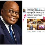 Read What President Nana Addo Posted On Twitter Today That Made Ghanaians Congratulate Him