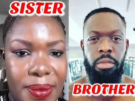 Check Out Photos Of Timaya's Elder Sister Who Looks Exactly Like Him