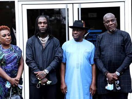 Burna Boy Receives A Massive Gift From Gov. Wike Neysom At Homecoming Event