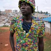 Kenyans React To A Man Who Made A Clothe From Soda Bottle Caps