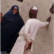 Lady in Hijab Caught Smoking in Public (Photos)