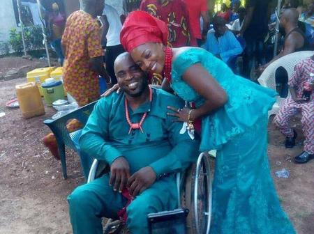 Lady Who Married Her Husband On Wheelchair Celebrate Her Anniversary In Tears