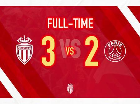 Full-time: It Ends In Defeat As Monaco Beat PSG 3 - 2