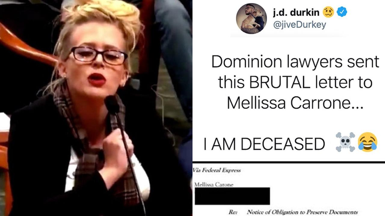 'Star Witness' Melissa Carone Hit With Scathing Cease-And-Desist Letter From Dominion Voting Systems