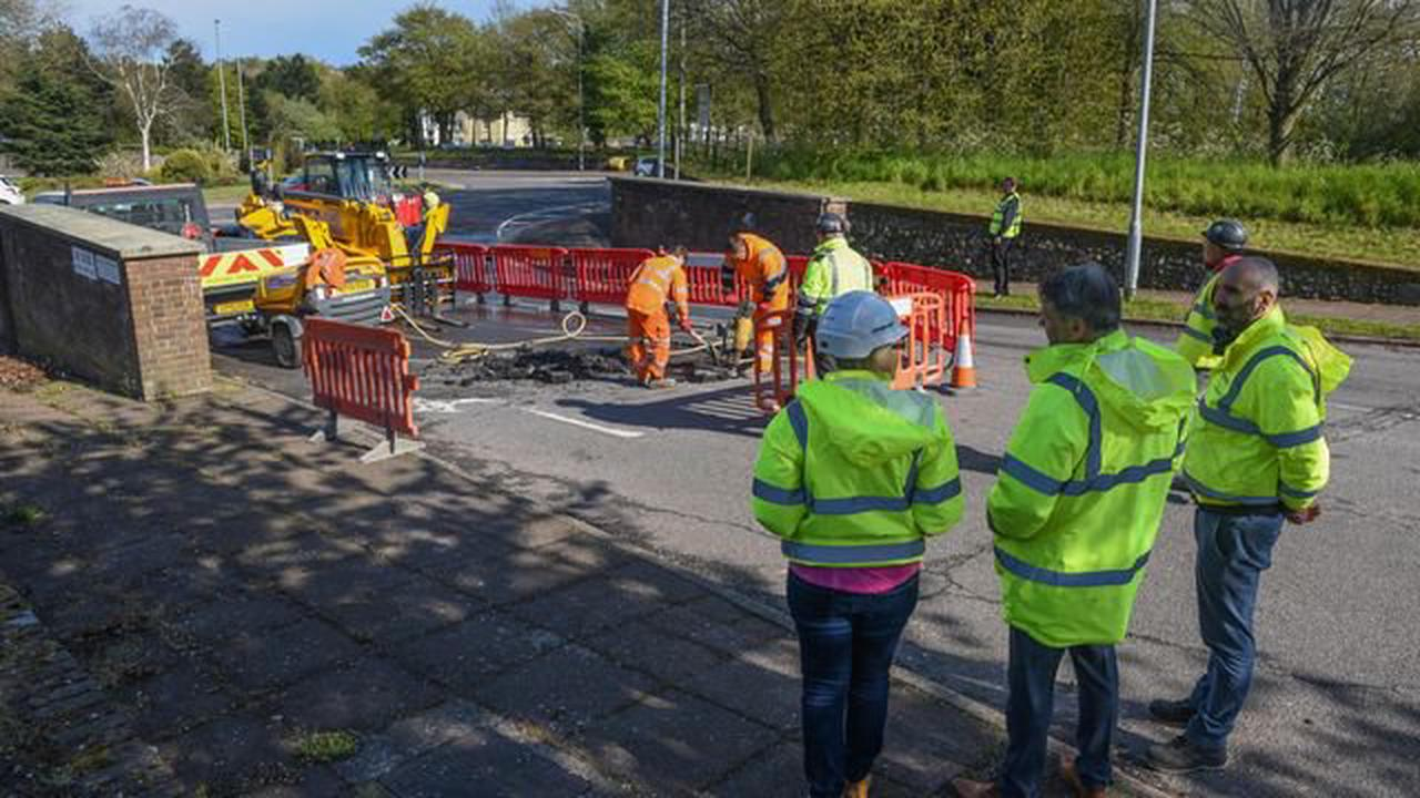 Sinkhole opens up at Norfolk County Council offices on election day