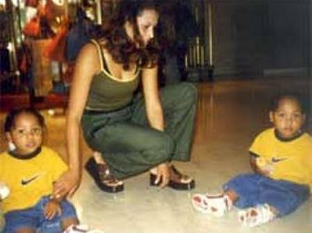 Throwback Photo Of Daniel Amokachi's Wife And Infant Twins Pops Up
