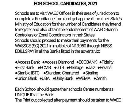 WAEC Registration Procedures For The Upcoming WASSCE FOR SCHOOL CANDIDATES