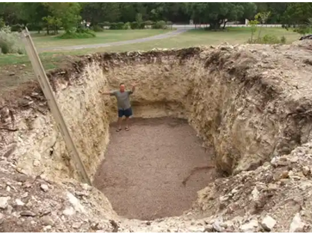 Guy Digs A Huge Hole In His Backyard, And The Reason Is Leaving People Stunned