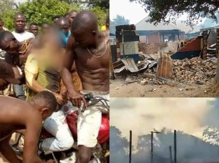 Panic As Nigeria Military Kills Scores Of Unarmed Villagers, Set Monarch Palace & Others Ablaze