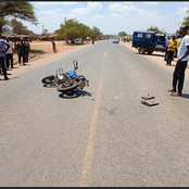 Car Hits and Kills a Cyclist in Makindu before Evading