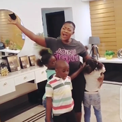 Photos Of Mercy Johnson Having Fun With Her Children On Her New Haircut