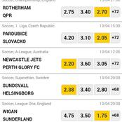 Tuesday's 13rd Must Win Matches To Place And Win Big.