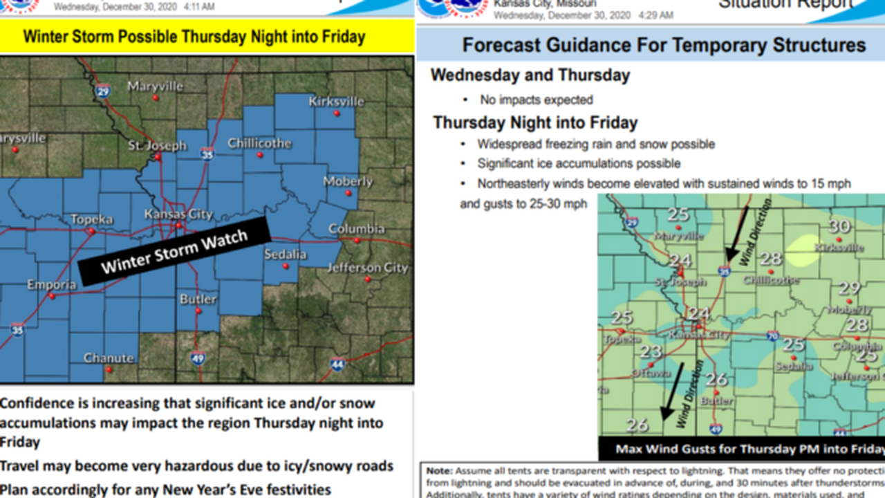 Winter Storm Watch Issued for New Years Eve/Day