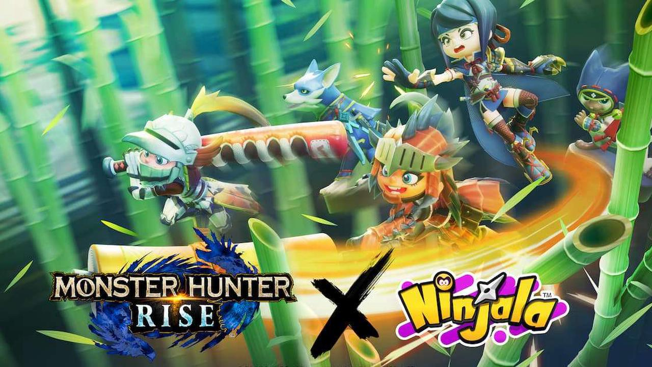 Ninjala and Monster Hunter Rise are joining forces for a crossover event