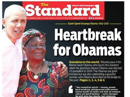 Today's News: Bad News for Obama, Al Shabaab plots and blackmails against Kenya's Government