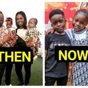 Beautiful Photos Of Tiwa Savage's Son And Davido's Daughter