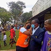 Cette photo de la candidate RHDP et celui Eds-Pdci, s'embrassant après le scrutin, fait le buzz