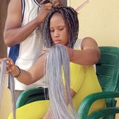 See What A Guy Is Doing To A Lady Hair That Sparked Reactions On Social Media