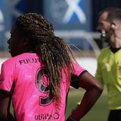 South African international striker shines in Scotland.