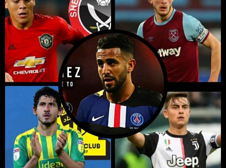 UPDATE: Man Utd & Tottenham Target Set To Sign New Contract, Mahrez To Paris Saint-Germain & Others.