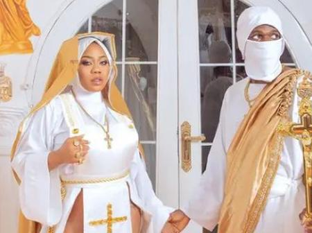 Reactions as fans drag Toyin for dressing like a reverend sister