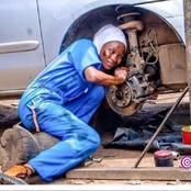 La photo d'une mécanicienne travaillant dur émeut les internautes