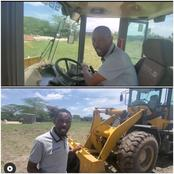 Fans React As Omosh Drives A Caterpillar