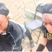 Reactions As Angry Female Footballer Beats Up Referee During A Football match In Ghana [PHOTOS]