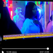(OPINION) BBNaija Party: Vee Doesn't Look Happy Seeing The Evicted Housemates Through The Glass.