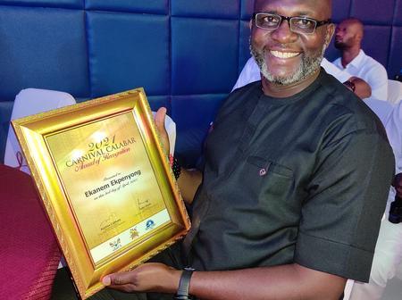 Ekanem Ekpenyong Receives Meritorious Award As Carnival Calabar Honours Partners